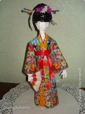 вот захотелось сделать еще одну японскую девушку,но немножко по-другому. фото 1