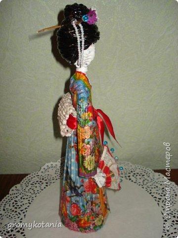 вот захотелось сделать еще одну японскую девушку,но немножко по-другому. фото 2