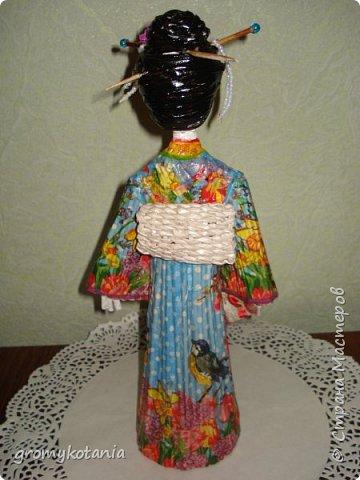 вот захотелось сделать еще одну японскую девушку,но немножко по-другому. фото 3