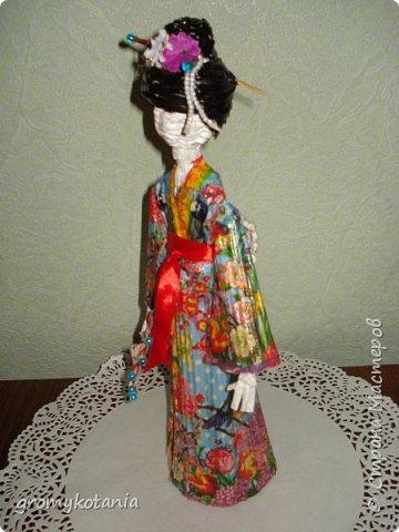 вот захотелось сделать еще одну японскую девушку,но немножко по-другому. фото 4