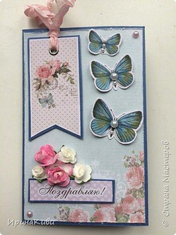 Еще несколько нежных цветочных открыток к 8 марта на скорую руку. фото 5