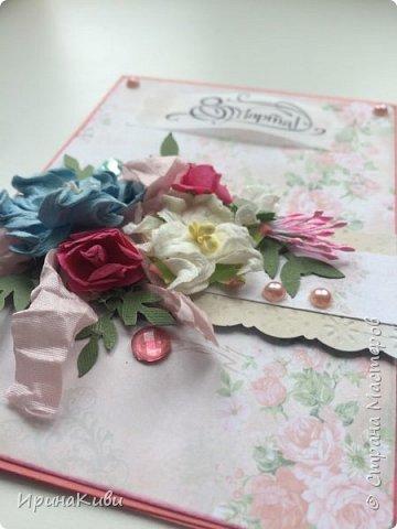 Еще несколько нежных цветочных открыток к 8 марта на скорую руку. фото 2
