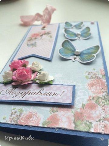 Еще несколько нежных цветочных открыток к 8 марта на скорую руку. фото 6