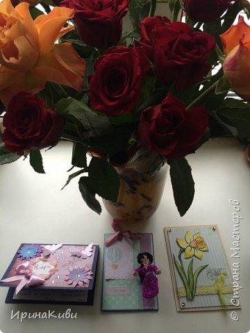 Еще несколько нежных цветочных открыток к 8 марта на скорую руку. фото 8