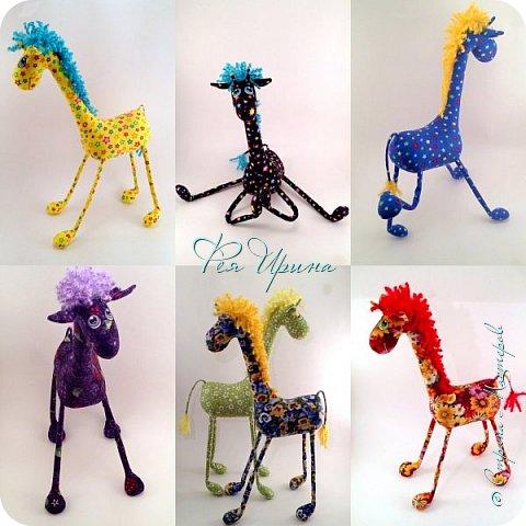 Давненько меня не было :))) Я трудилась непрерывно , покажу  всё что натворила  за  это время , начну с жирафов и лошадок :) фото 1