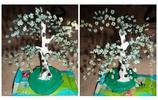 Деревья из бисера фото 6