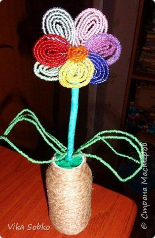 Цветы из бисера фото 13