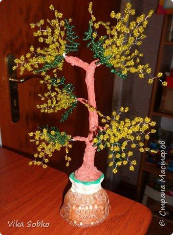 Деревья из бисера фото 7