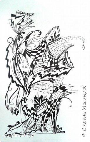 """И снова тянет меня рисовать, никак не могу остановиться ;))) Итак. """"Бабочки"""". Сколько бабочек Вы видите? фото 2"""