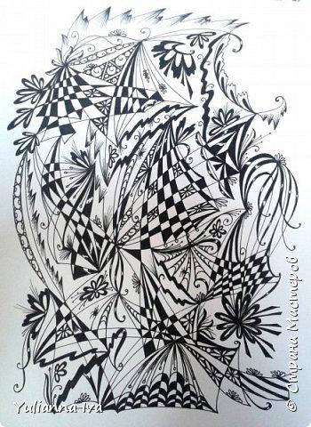 """И снова тянет меня рисовать, никак не могу остановиться ;))) Итак. """"Бабочки"""". Сколько бабочек Вы видите? фото 4"""