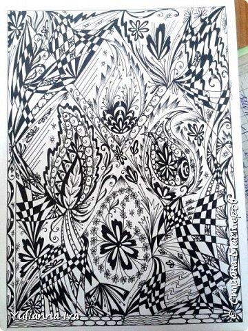 """И снова тянет меня рисовать, никак не могу остановиться ;))) Итак. """"Бабочки"""". Сколько бабочек Вы видите? фото 3"""
