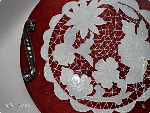 Имитация вышивки ришелье по МК Оксаны Рябинкиной. http://stranamasterov.ru/node/969350  Первый опыт фото 3