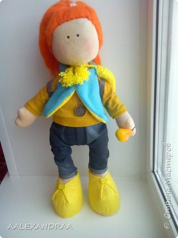 Всем привет!!!Вот такая кукляша получилась,44см. фото 1