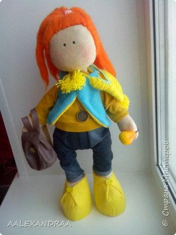 Всем привет!!!Вот такая кукляша получилась,44см. фото 2