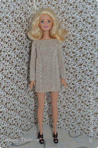 Добрый вечер, Страна Мастеров! В моем куклосемействе появилась новая куколка. Это Барби, 2015 года выпуска. Она не шарнирная, но я в полном восторге от ее качества. Раньше я избегала кукол Барби, даже сама не знаю почему? Но, когда купила эту малышку, то вдохновение сразу пришло, и я просто не могу остановится. Все вяжу ей и вяжу. Даже остальные девочки загрустили, что я их отодвинула в сторону. Вот, что пока я хочу вам показать. Шапочка и шарф, пальто и штанишки. Вязалось это еще в январе, так что наряд тогда был актуальным. фото 7