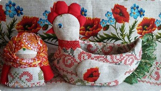 Курочка-корзинка для конфеток и яичек и  и Крупеничка-славянская народная кукла для достатка в доме