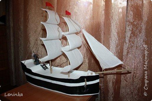 Вот такой кораблик я сделала на 23 февраля старшему сыночке! Ребенок был в восторге! В него положила подарок, сын не сразу нашел.У многих мастериц есть лучше выполненные корабли, но я только учусь и прошу строго меня не судить. фото 4