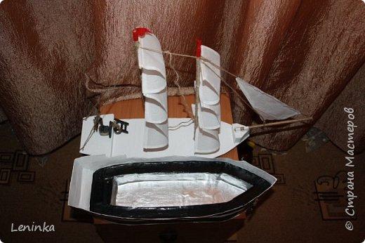 Вот такой кораблик я сделала на 23 февраля старшему сыночке! Ребенок был в восторге! В него положила подарок, сын не сразу нашел.У многих мастериц есть лучше выполненные корабли, но я только учусь и прошу строго меня не судить. фото 10