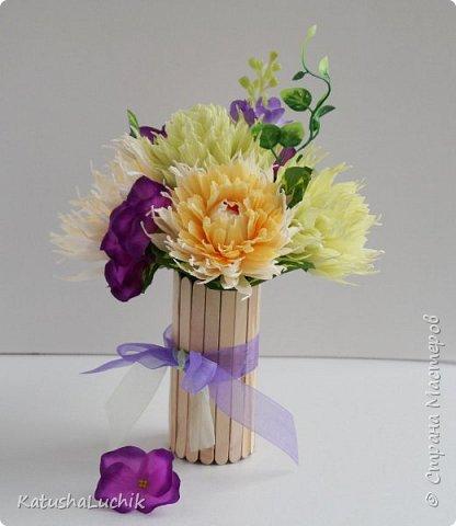 Такой подарочек достался одном хорошему человеку, который ну очень любит хризантемы. фото 3