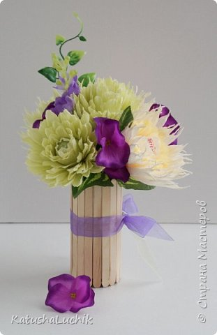 Такой подарочек достался одном хорошему человеку, который ну очень любит хризантемы. фото 1