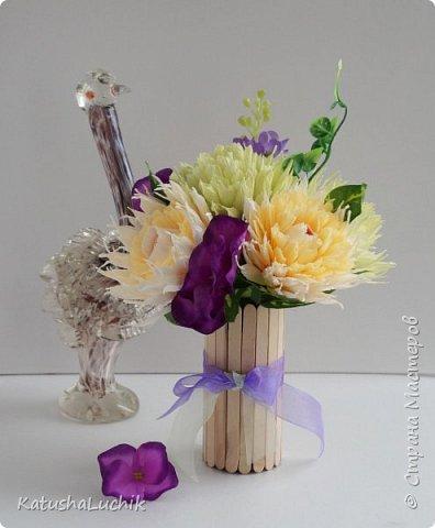 Такой подарочек достался одном хорошему человеку, который ну очень любит хризантемы. фото 2