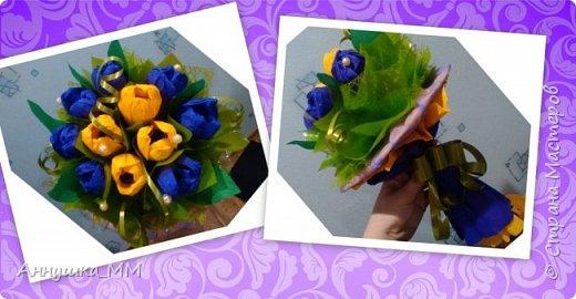 Мои первые шаги в свит-дизайне. Это мой первый букетик в подарок тете на день рождение. фото 4
