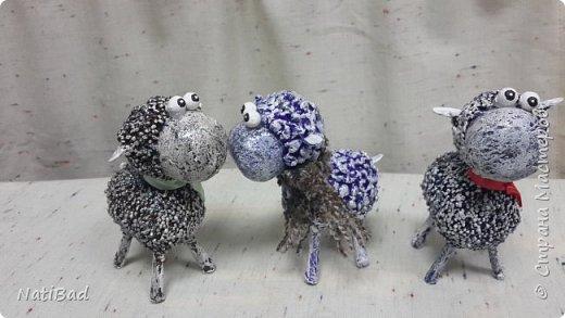 Вот такие овечки я делала в подарок на новый год. фото 1