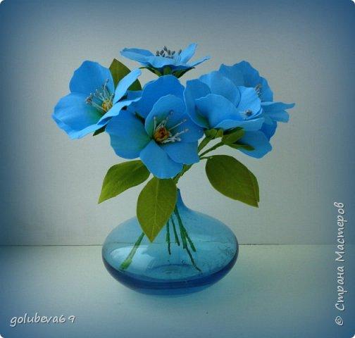 Букетик цветов из фоамирана. фото 1