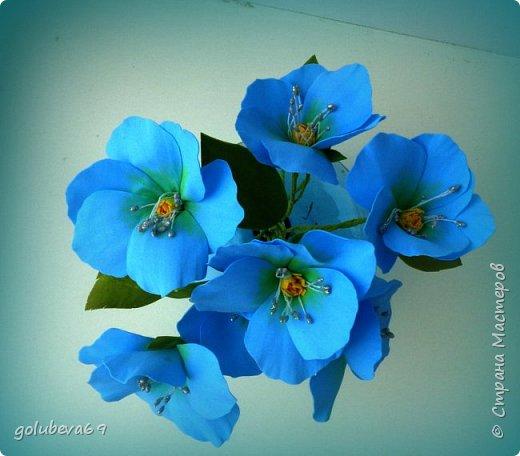Букетик цветов из фоамирана. фото 2