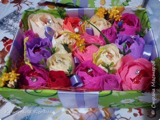 Сладкая коробочка цветов. 8 марта фото 1
