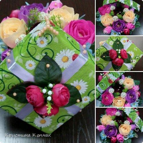 Сладкая коробочка цветов. 8 марта фото 5