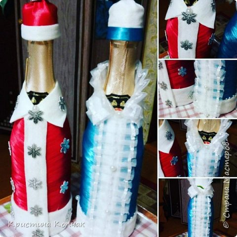 Мои елочки и новогодние бутылочки фото 6