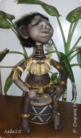 Моя африканка,по мотивам  куклы- африканки   Елены   Лаврентьевой        http://stranamasterov.ru/node/361647       . фото 1