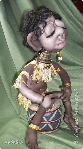Моя африканка,по мотивам  куклы- африканки   Елены   Лаврентьевой        http://stranamasterov.ru/node/361647       . фото 3