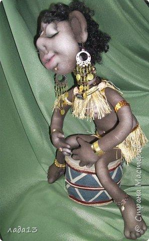 Моя африканка,по мотивам  куклы- африканки   Елены   Лаврентьевой        http://stranamasterov.ru/node/361647       . фото 4