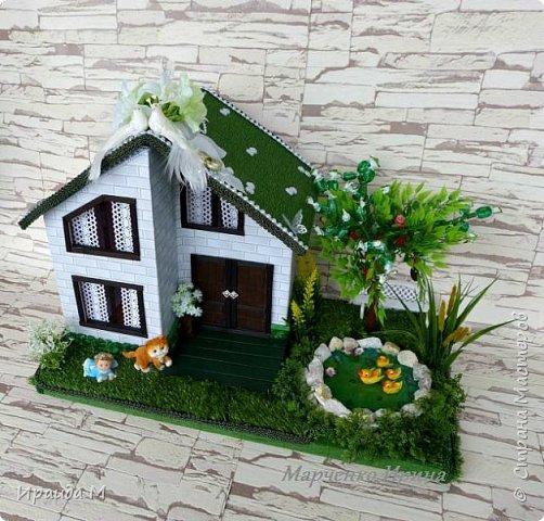 """Подарок на свадьбу  все с тем же пожеланием: """"Построить дом, посадить дерево, воспитать детишек"""" фото 2"""