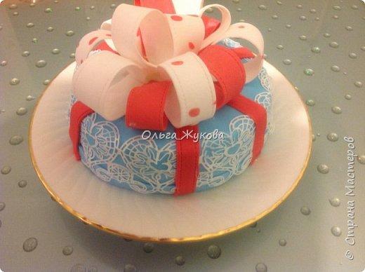 Тортик Китти на день рождения.  Покрытие торта и фигурка из сахарной мастики. фото 5
