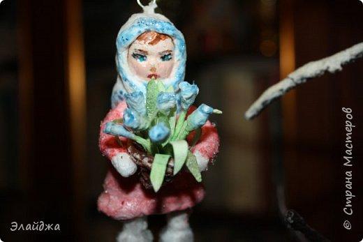 Выношу на Ваш суд  свою ватную девочку  на создание которой меня вдохновила замечательный мастер Симакова Оля http://stranamasterov.ru/user/390706. Её работами я всегда восхищалась, Спасибо Олечка за подробные МК !  фото 6