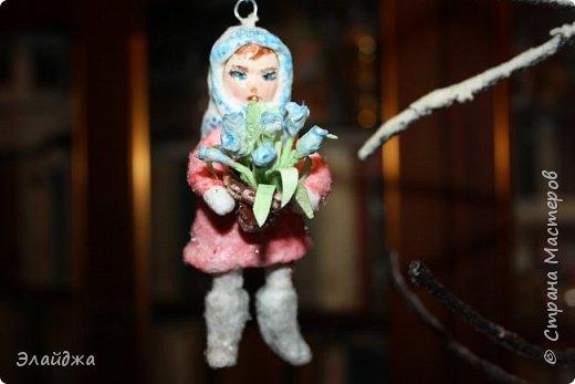 Выношу на Ваш суд  свою ватную девочку  на создание которой меня вдохновила замечательный мастер Симакова Оля http://stranamasterov.ru/user/390706. Её работами я всегда восхищалась, Спасибо Олечка за подробные МК !  фото 1