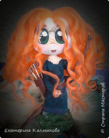 """Последнее время очень увлеклась изготовлением текстильных кукол, мои первые работы в этом направлении. Текстильная куколка """"Русалочка"""". фото 2"""