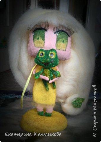 """Последнее время очень увлеклась изготовлением текстильных кукол, мои первые работы в этом направлении. Текстильная куколка """"Русалочка"""". фото 3"""