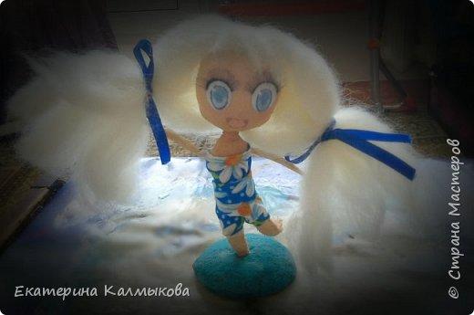 """Последнее время очень увлеклась изготовлением текстильных кукол, мои первые работы в этом направлении. Текстильная куколка """"Русалочка"""". фото 4"""