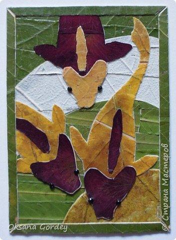 """Серия АТС """"Почти эко...с ящерками"""". Достичь чистого эко не получилось, т.к. использовала кроме натуральных материалов (мох, бамбук, кое-где кусочки сосновый коры, металлические монетки, бумажные цветочки), еще пластмассовые пуговички-ящерки и стразики с люминисцентным эффектом.  фото 11"""