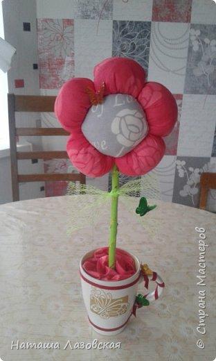 Вот такой цветочек у меня получился. Делала по МК http://stranamasterov.ru/node/517075 . Спасибо автору. фото 2