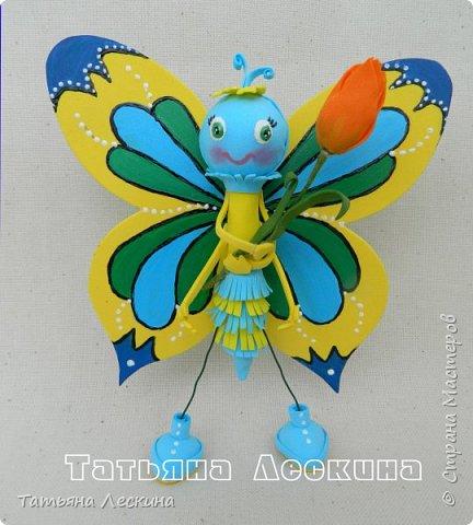 Всем гостям- доброго времени суток! Представляю вашему вниманию мою новую куколку-бабочку, которую сделала в подарок на 8 марта.  фото 5