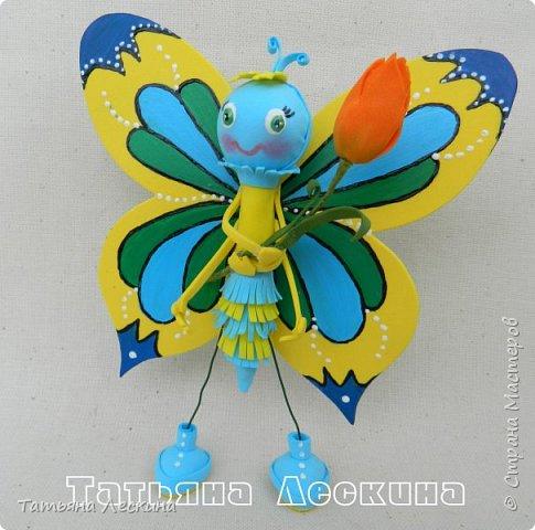 Всем гостям- доброго времени суток! Представляю вашему вниманию мою новую куколку-бабочку, которую сделала в подарок на 8 марта.  фото 7