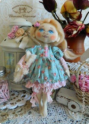 Доброго времени суток, всем кто заглянул! Знакомтесь,  моя новая куколка-малышка! Рост куколки 22 см. Ручки и ножки подвижные, на пуговичном креплении. фото 1