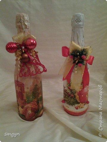 Всем доброго времени суток. Спасибо, что заглянули. Вот делюсь своими подарочными бутылочками. Начнем с Нового года... фото 6