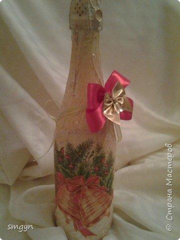 Всем доброго времени суток. Спасибо, что заглянули. Вот делюсь своими подарочными бутылочками. Начнем с Нового года... фото 7