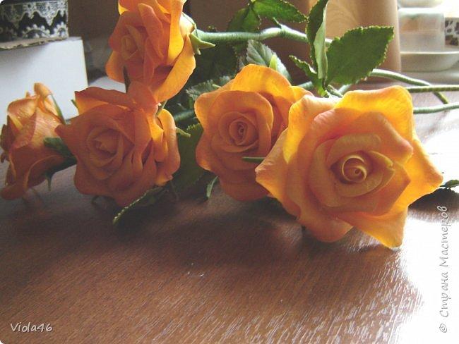 Гвоздики  и розы из холодного фарфора фото 3